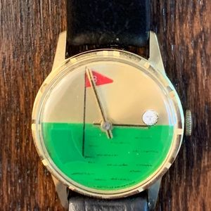 Vintage Mechanical Wind Swiss Golf Theme Watch